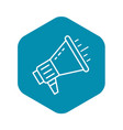 talking megaphone icon outline style vector image vector image