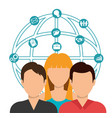 teamwork people company icon vector image vector image