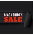Torn Black Friday paper background vector image