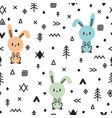 tribal seamless pattern with cute hand drawn vector image vector image