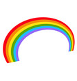 with rainbow shapes isolated on white vector image vector image