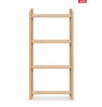 wooden rack storage stand vector image vector image