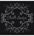 Chalk decorative frame vector image