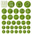 eco icon button set vector image