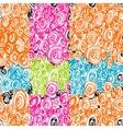 Hand Drawn Scribble Circles seamless pattern vector image