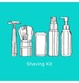 shaving kit vector image