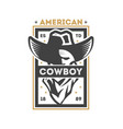 american cowboy vintage isolated label vector image