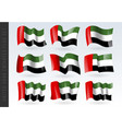 3d waving flag united arab emirates isolated vector image vector image