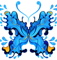 Abstract blue butterfly blot for design vector image vector image