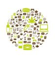 addiction icons in circle vector image vector image