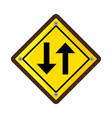 arrows guide traffic signal vector image vector image
