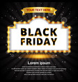 black friday retro frame design template banner vector image vector image
