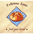 Bread On A Napkin 3 vector image vector image
