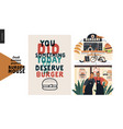 burger house - small business graphics - set vector image vector image