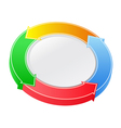 button with arrows vector image vector image