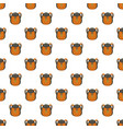 camp backpack pattern seamless vector image