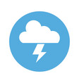 cloud thunderbolt light creativity idea vector image