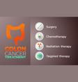 colon cancer treatment icon design infographic vector image vector image
