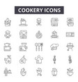 cookery concept line icons signs set vector image vector image