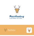 creative reindeer logo design flat color logo vector image