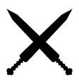 Crossed gladius swords icon vector image vector image
