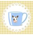 Cup of milk vector image vector image
