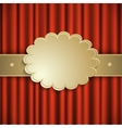 curtain with gold ribbon vector image