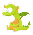 cute dragon character vector image vector image