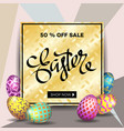Easter egg sale banner background template 10 vector image