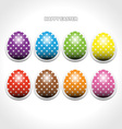 Easter egg stickers vector image vector image