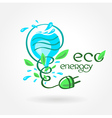 eco energy water aqua alternative power vector image vector image