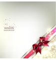Elegant Christmas banner Golden background with vector image vector image