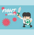 fight covid-19 coronavirus vector image