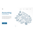 finance modern isometric line vector image vector image