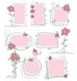 Floral doodle frames vector image vector image