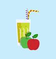 Fresh Apple Juice Drink vector image