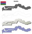 Gambia outline map set vector image vector image