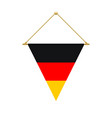 german triangle flag hanging vector image