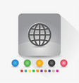 globe icon sign symbol app in gray square shape vector image vector image