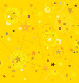 golden stars seamless pattern swatch tile vector image vector image