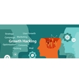 growth hacking ways how business technology vector image vector image