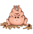 Happy-Pig vector image vector image