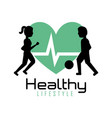 healthy lifestyle people training exercise vector image vector image