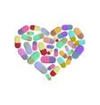 heart pills i love dope i like pill vector image vector image
