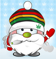 jamaican Santa Claus cartoon vector image vector image
