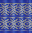 knitted blue christmas ornamental vector image