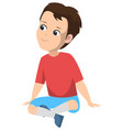 little boy elementary school kid sitting vector image vector image