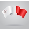 Maltese waving Flag vector image vector image