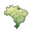 map of brazil cartography geography tourism travel vector image vector image