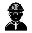 miner icon simple style vector image